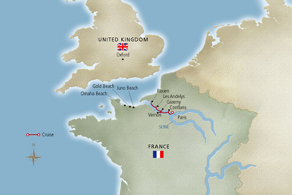 Paris The Heart Of Normandy Castaic Travel A Boutique: Paris To Normandy Map At Infoasik.co